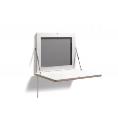 Müller Möbelwerke-Flatframe-CPL weiß-Ansicht vorne-Schlafsofa Shop