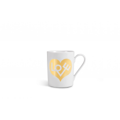 Vitra-Coffee Mug Love Heart-gold