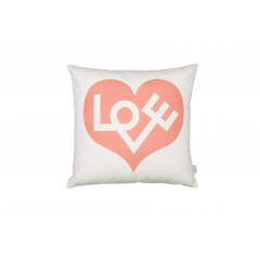 Vitra-Graphic Print Pillows Love-pink